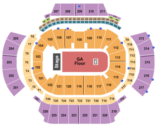 State Farm Arena Endstage - Full GA Floor