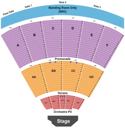 San diego open air theater seating chart