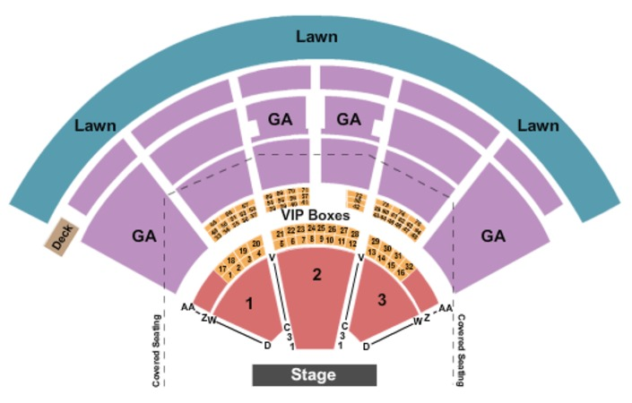PNC Music Pavilion Endstage GA Upper Level