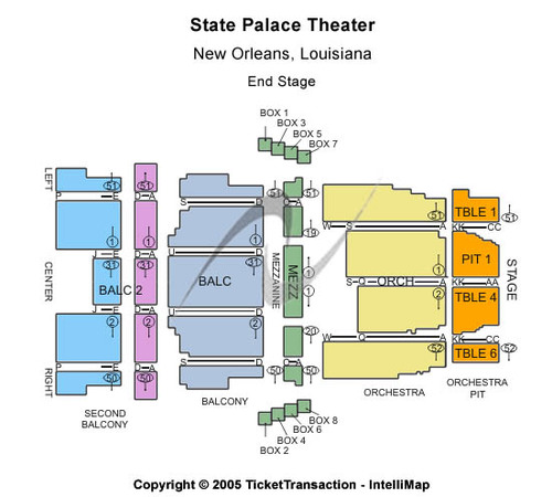 State Palace Theater End Stage