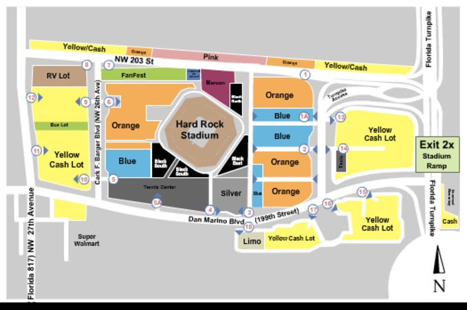 sun life stadium parking lots tickets in miami gardens