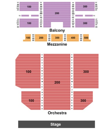 Tampa Theatre Seating Chart