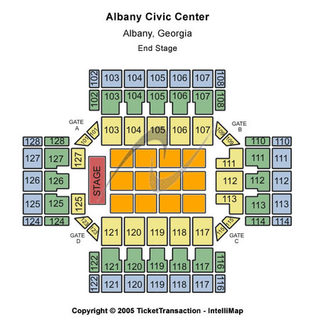 Albany Civic Center End Stage