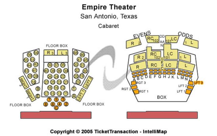 Charline McCombs Empire Theatre Tickets In San Antonio