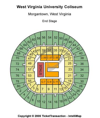 diagram of seating at theater wv grandview diagram of fetus at 12 weeks west virginia university coliseum tickets in morgantown ... #4