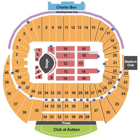 Autzen Stadium Tickets In Eugene Oregon Autzen Stadium Seating