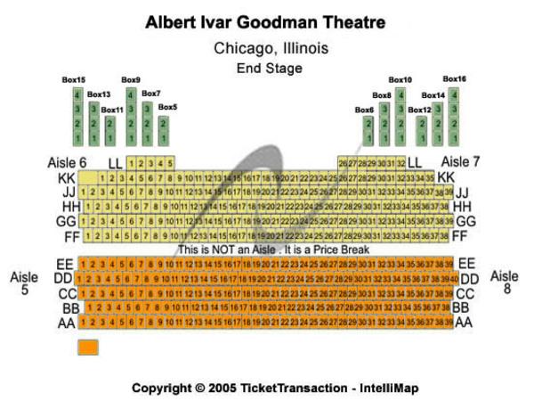 Albert ivar goodman theatre tickets in chicago illinois seating