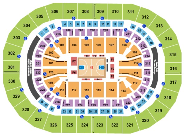 Chesapeake Energy Arena Basketball 2