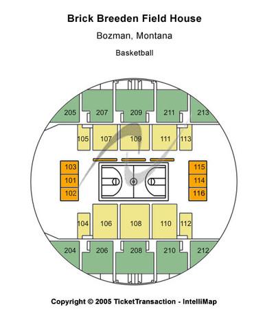 Brick Breeden Fieldhouse Basketball