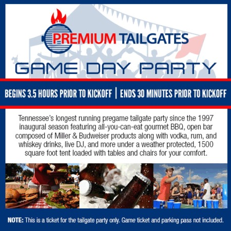 Premium Tailgate Tent Tickets In Nashville Tennessee Seating Charts