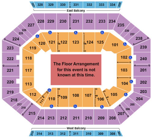 DCU Center Generic Floor