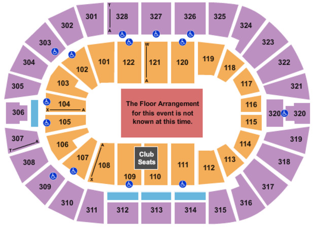 BOK Center Generic Floor