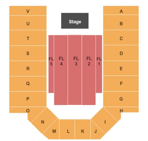 Casper Events Center End Stage