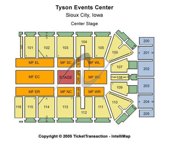 Tyson Events Center - Gateway Arena Center Stage