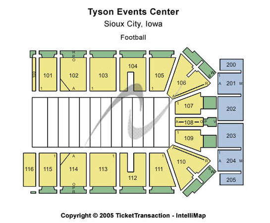 Tyson Events Center - Gateway Arena Football