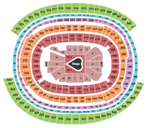 SoFi Stadium Taylor Swift - Lovers Fest West