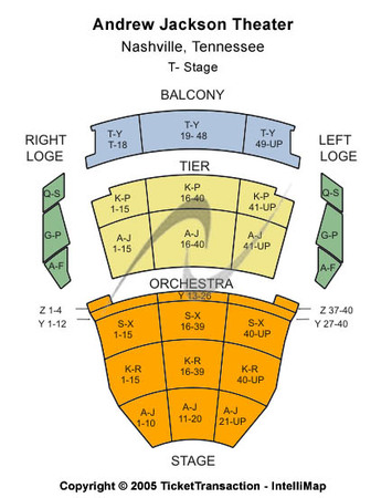 Andrew Jackson Hall TPAC Seating-Chart
