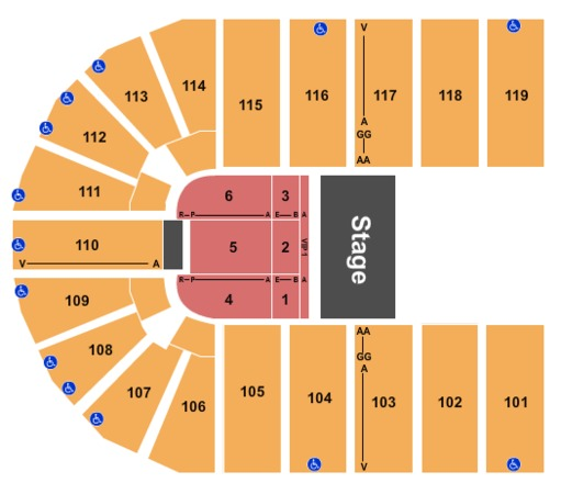 Orleans Arena The Orleans Hotel Tickets In Las Vegas Nevada Seating Charts Events And Schedule