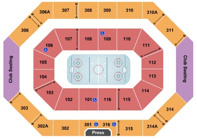 Ralph engelstad arena tickets in grand forks north dakota seating