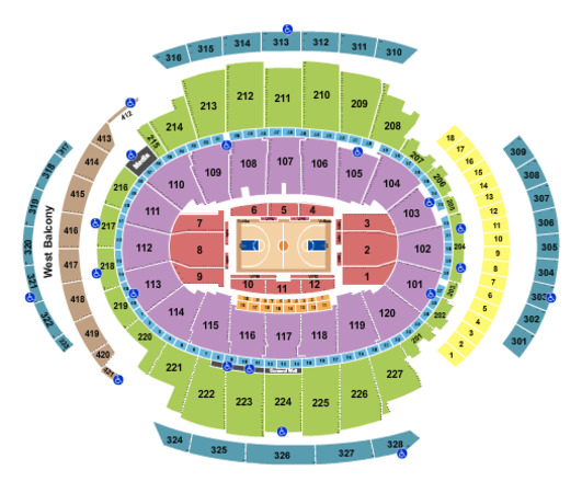 Madison Square Garden Basketball Rows