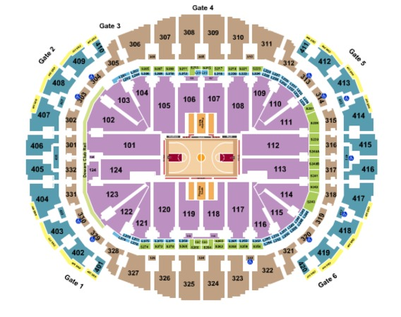 American Airlines Center Basketball Rows