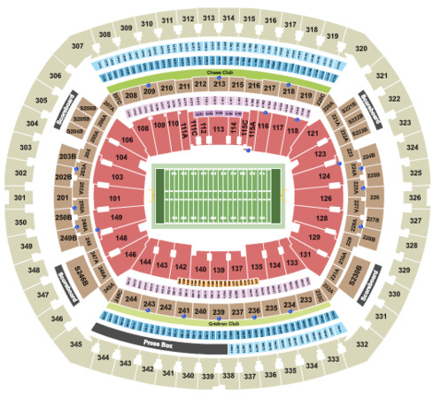 MetLife Stadium Football - Rows