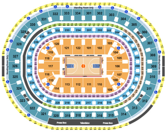 United Center Basketball Row VFS