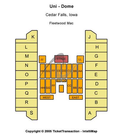 Uni dome tickets in cedar falls iowa uni dome seating charts