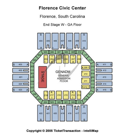 Florence Civic Center End Stage with GA Floor