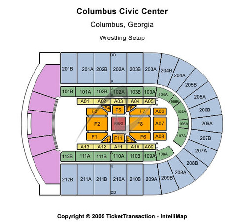 Columbus Civic Center Wrestling Setup