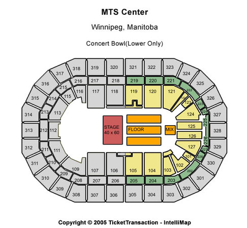Bell MTS Place Concert Bowl (Lower Only)