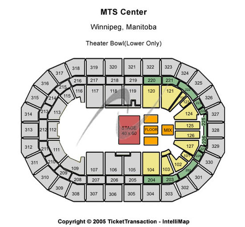 Bell MTS Place Theater Bowl (Lower Only)