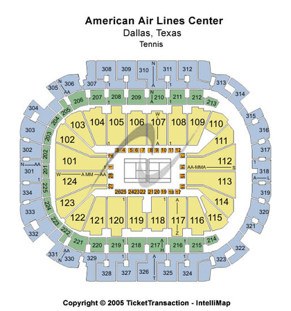 American Airlines Center Tennis