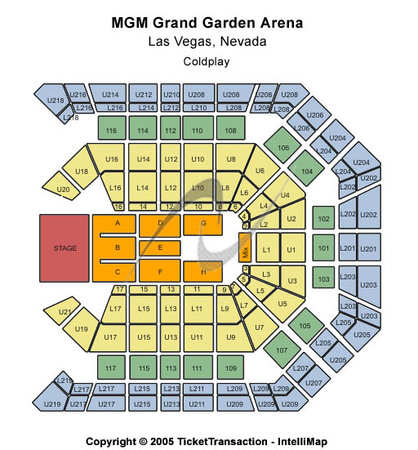 mgm grand garden arena seating chart interactive seat map seatgeek.
