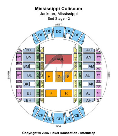 Mississippi Coliseum End Stage