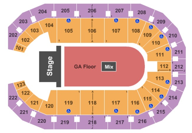 Landers Center End Stage GA Flr