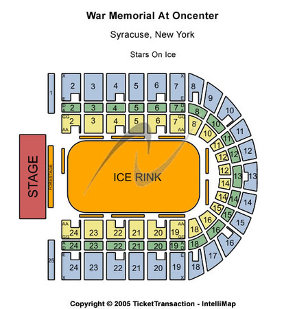 War Memorial At Oncenter Stars On Ice