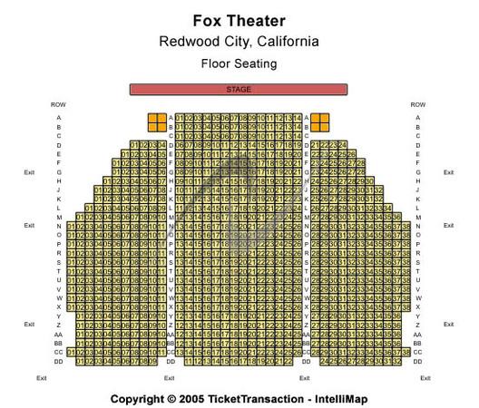 Fox Theater Mi: Fox Theatre Seating Chart Detroit Mi