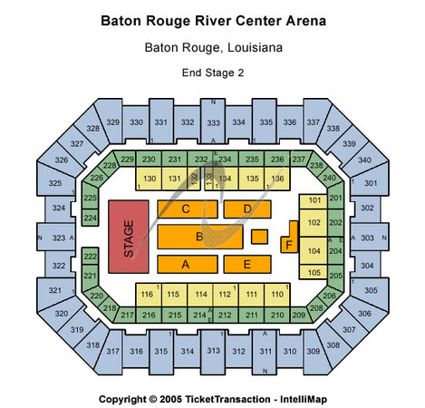 Raising Cane's River Center Arena End Stage 2