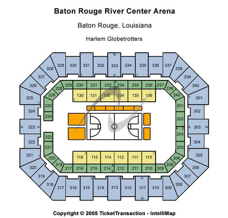 Raising Cane's River Center Arena Harlem Globetrotters