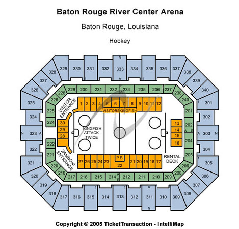 Raising Cane's River Center Arena Hockey