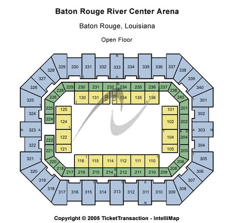 Raising Cane's River Center Arena Open Floor