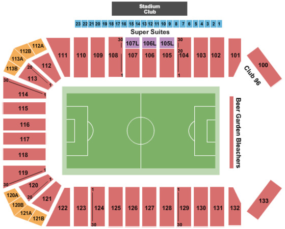 Toyota Stadium Tickets In Frisco Texas Toyota Stadium