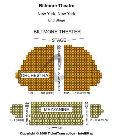 Samuel J Friedman Theatre End Stage