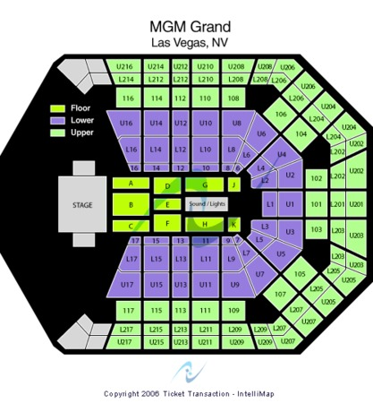 MGM Grand Garden Arena Tickets in Las Vegas Nevada, Seating Charts ...
