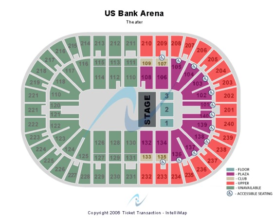 US Bank Arena T-Stage