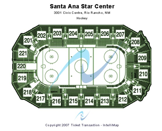 Santa Ana Star Center Hockey