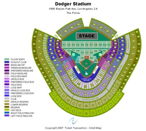 Dodger Stadium Tickets in Los Angeles California Dodger