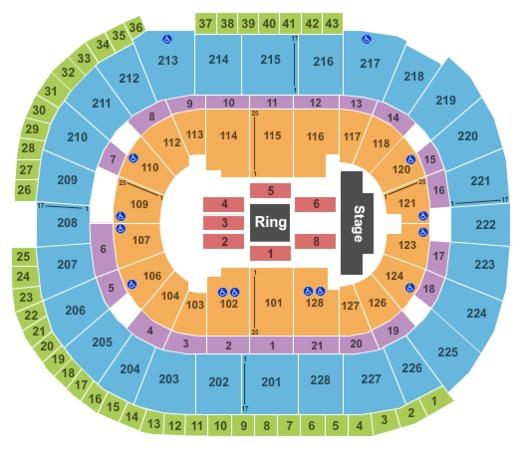 SAP Center WWE