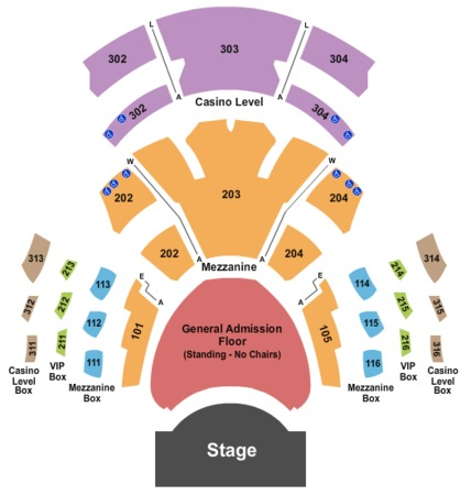 Pearl Concert Theater Seating 3D